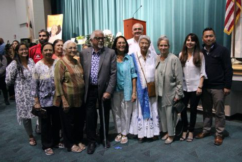 A photo includes BC President Sonya Christian, Director of Student of Student Life Nicky Damania and the rest of the planning committee for BC's Peace Garden at the Gandhi celebration back in 2019年10月. Mahatma Gandhi's grandson, Arun Gandhi was a guest speak at BC's Delano bet356体育在线网址投注, thanks to the support of Naina Patel from the Patel Foundation.